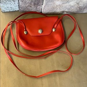 Handbags - Made in Italy | Red Leather Crossbody Purse Bag